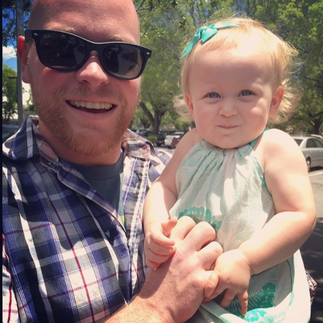 Daddy and daughter together after church. Love her with all of my heart. #reedfamilylove @stacyhartreed