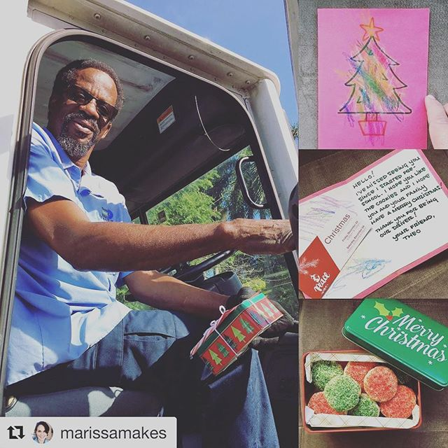 Love our church and how our community loves the people in our city! #Repost @marissamakes with @repostapp ・・・ Merry Christmas, Bruce... Thanks for being an awesome helper! 💚❤️🚛💨❤️💚#cjmerrymonday