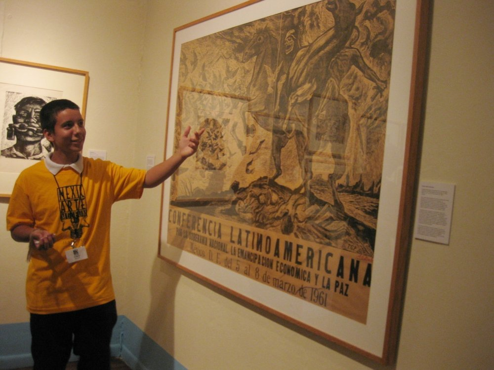 Teen Docent Program, Mexic-Arte Museum, Austin, TX, 2009.