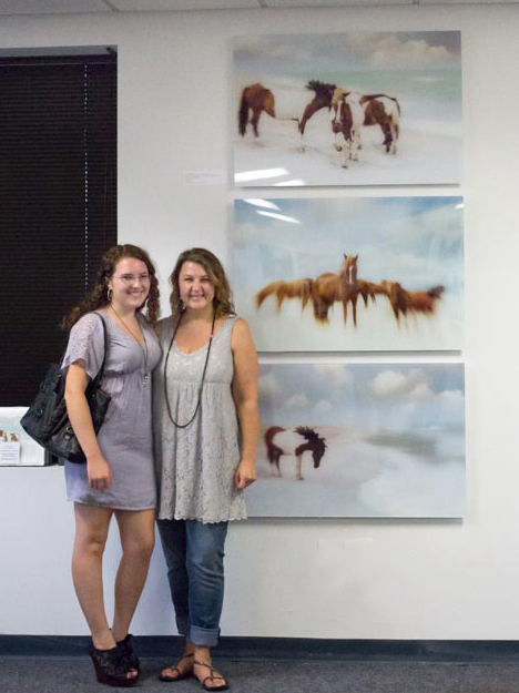 My niece Erin and I in front of my images.