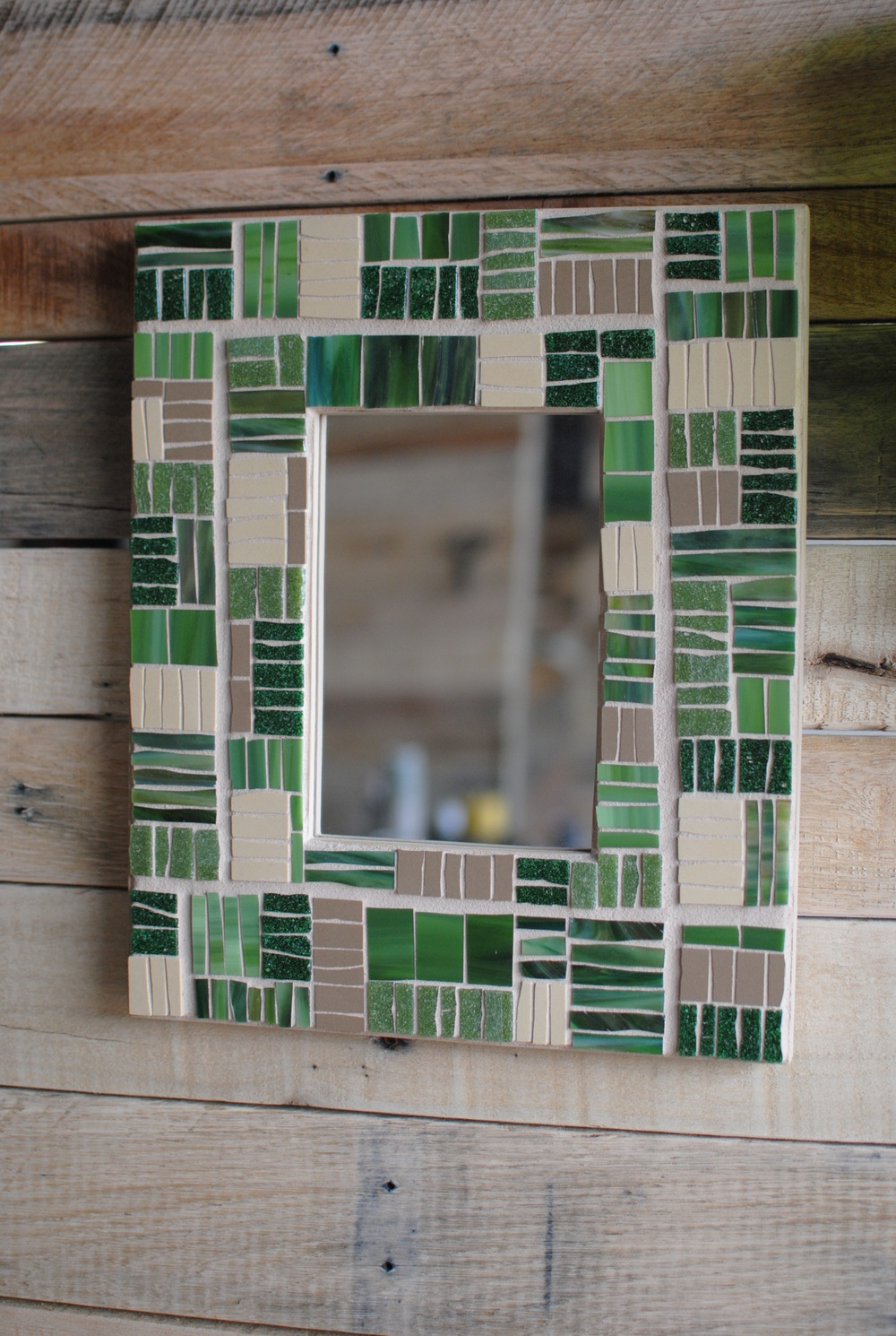 """Agriculture"" mosaic mirror frame"