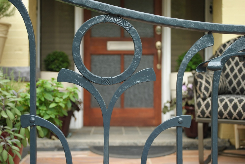 Porch railing gate detail