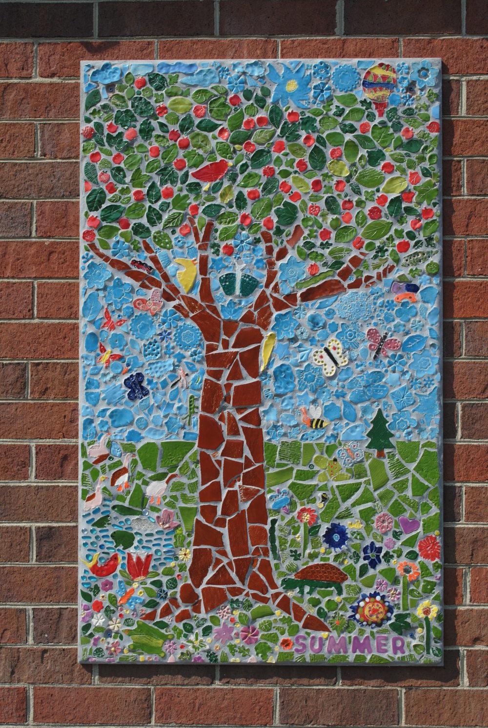 Summer mosaic panel