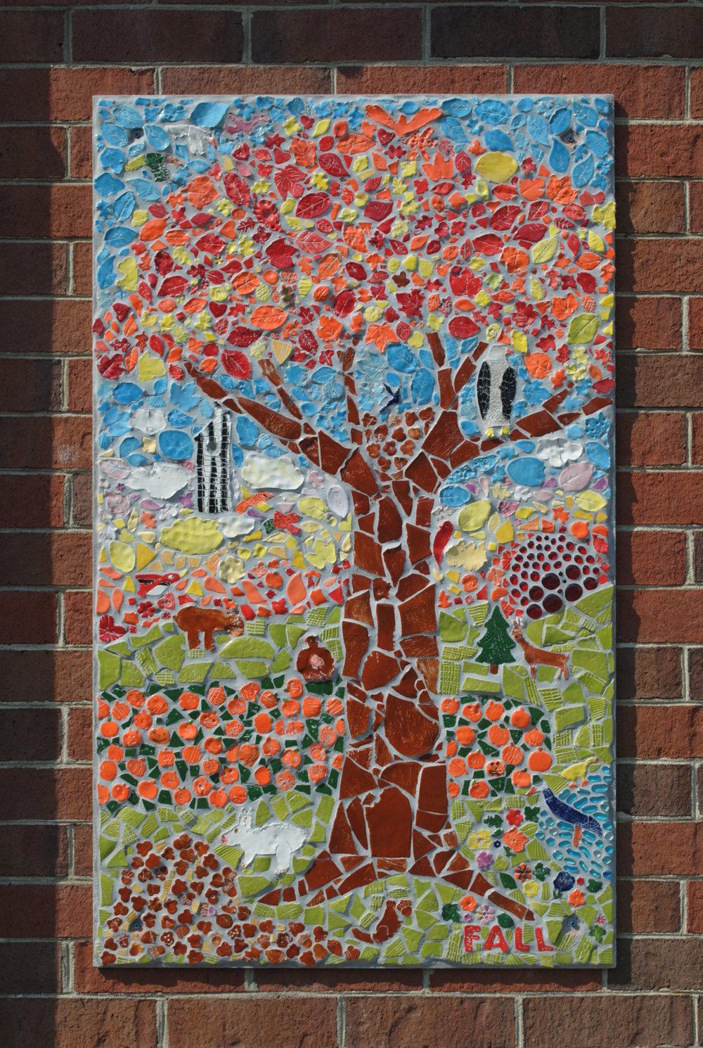 Fall mosaic panel
