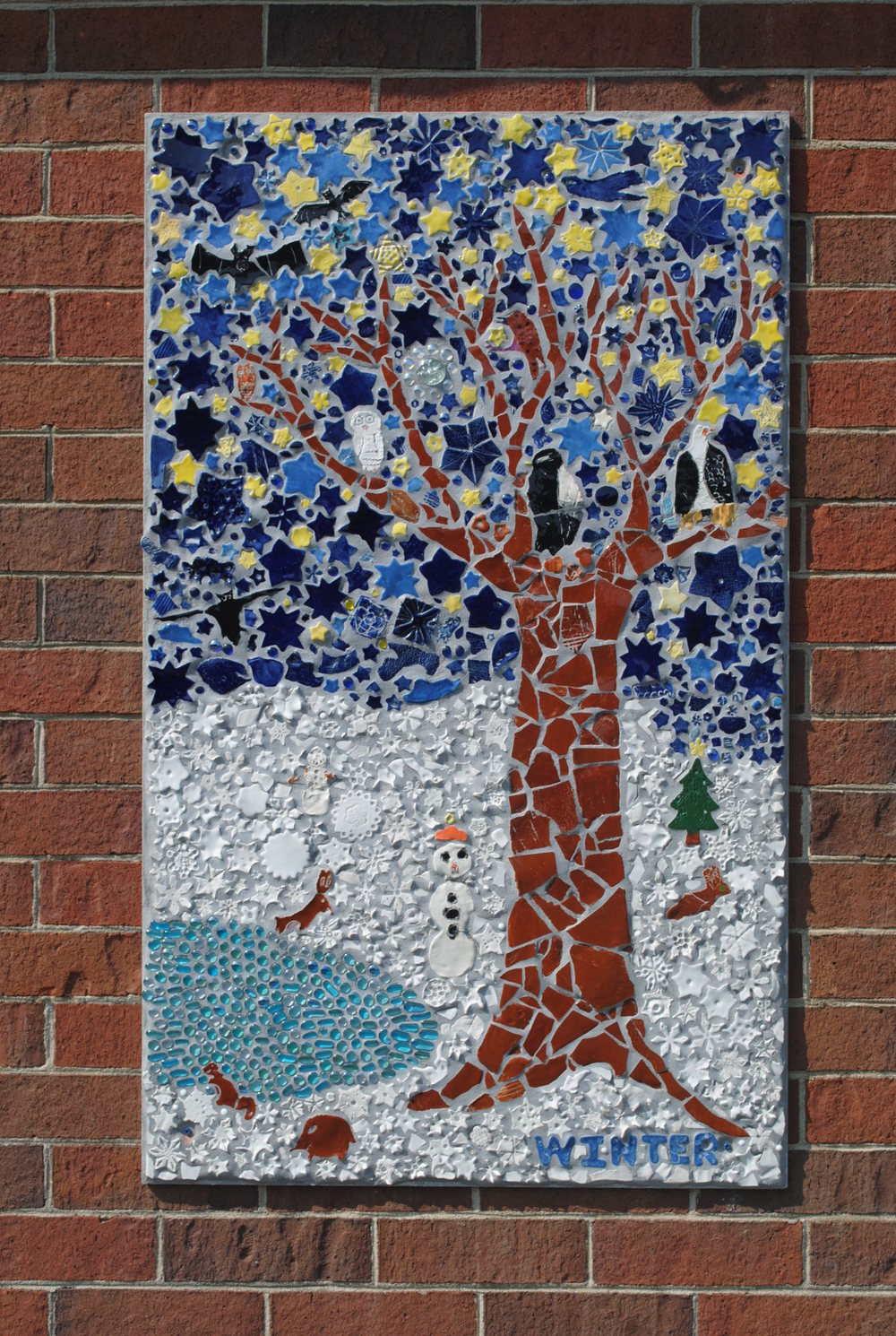 Winter mosaic panel