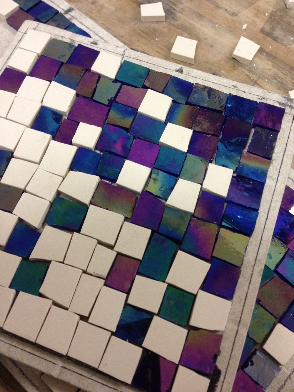 Custom mosaic firescreen inserts