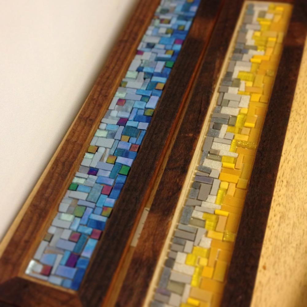 Just finished gluing these coat rack mosaics.