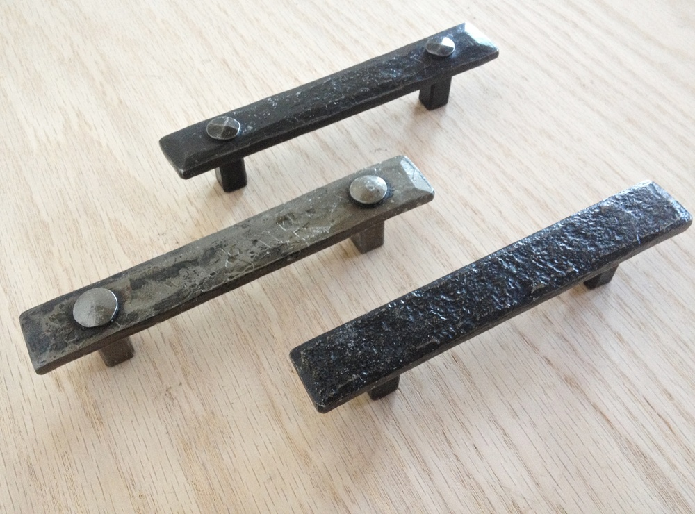 Hand forged drawer pulls