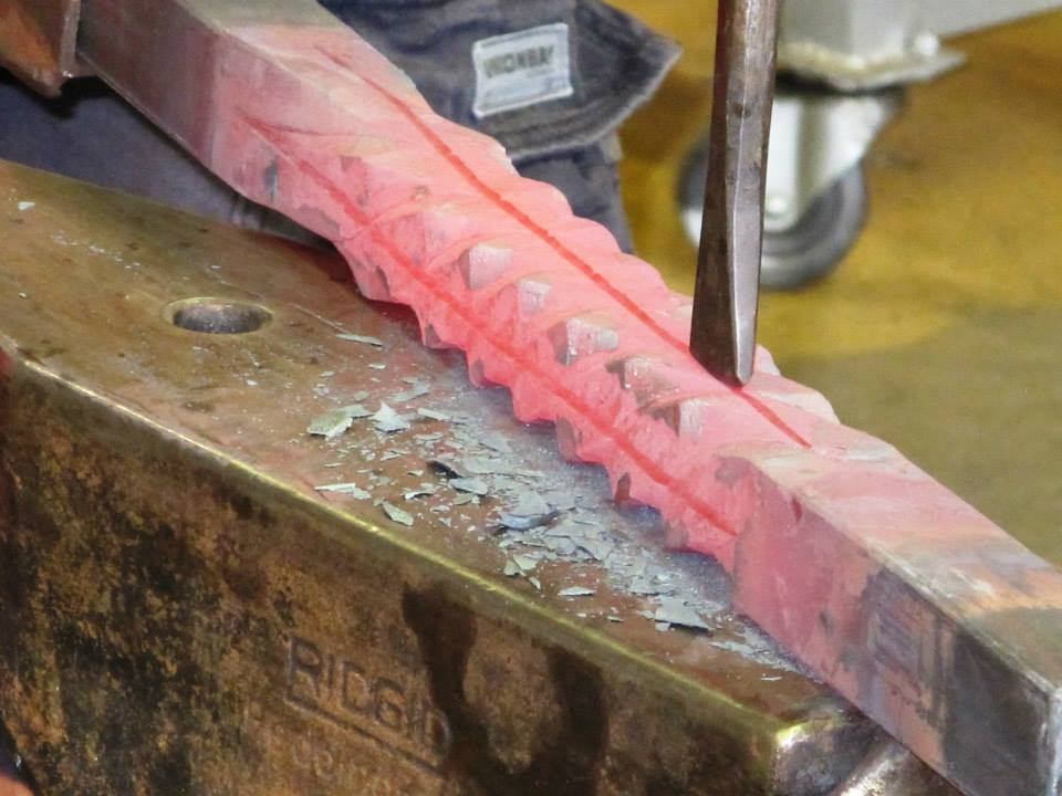 This is a great close-up showing the line in the steel.