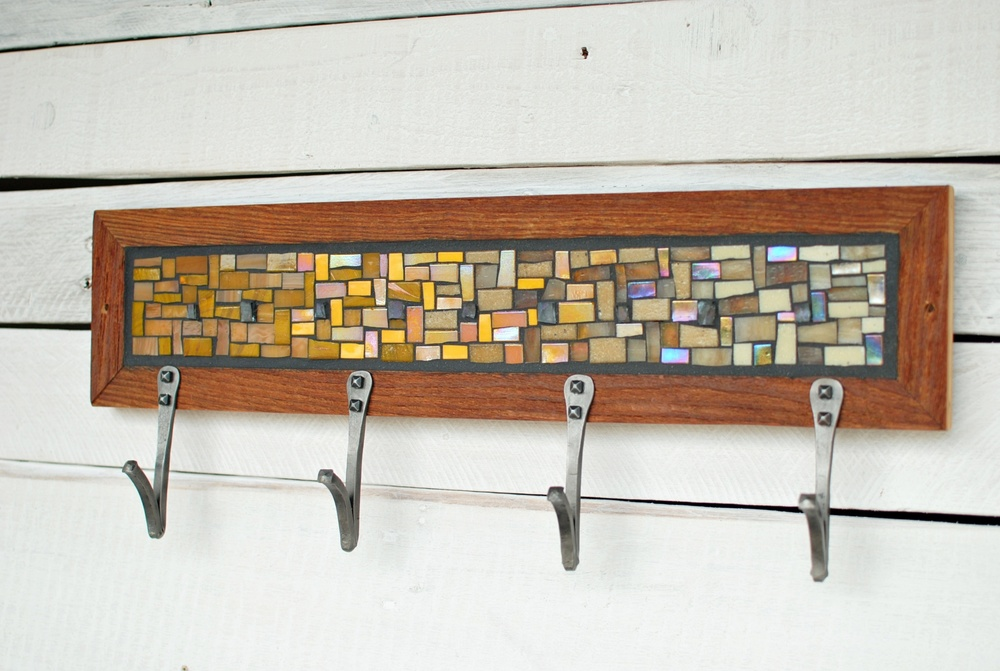 Yellow Mosaic Coat Rack