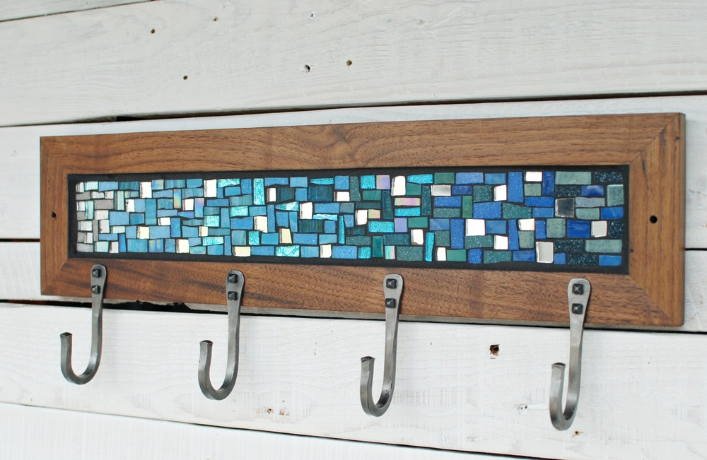 Blue Mosaic with Mirror