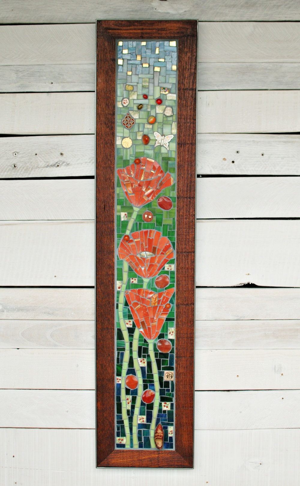 """Poppies"" mosaic"