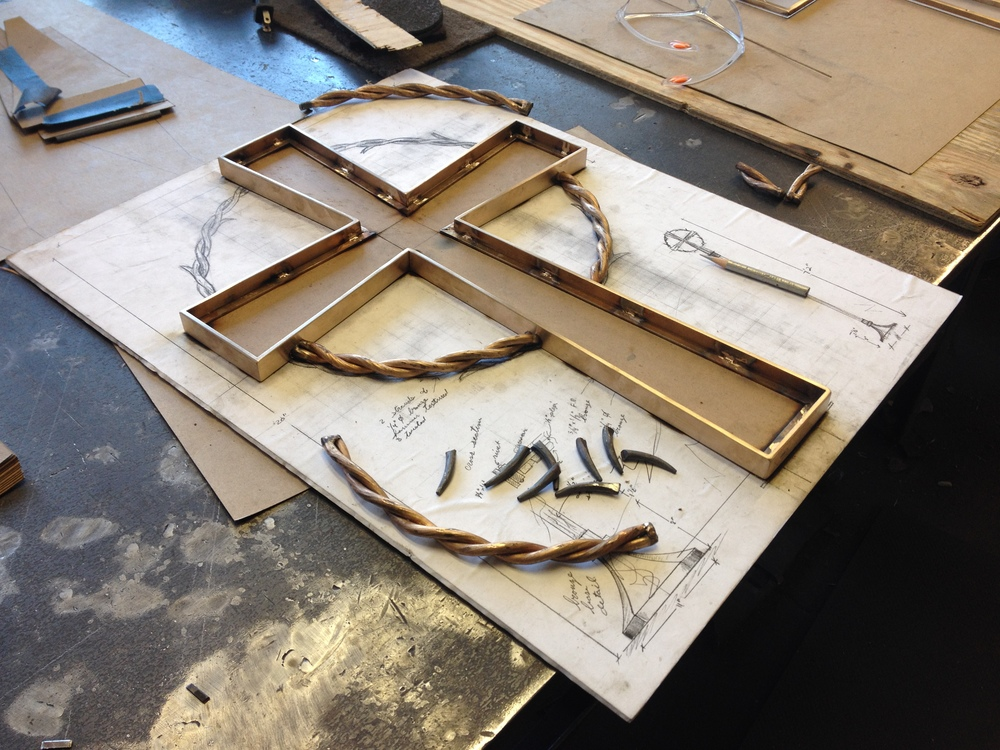 Bronze cross in process 2 PH2015.JPG