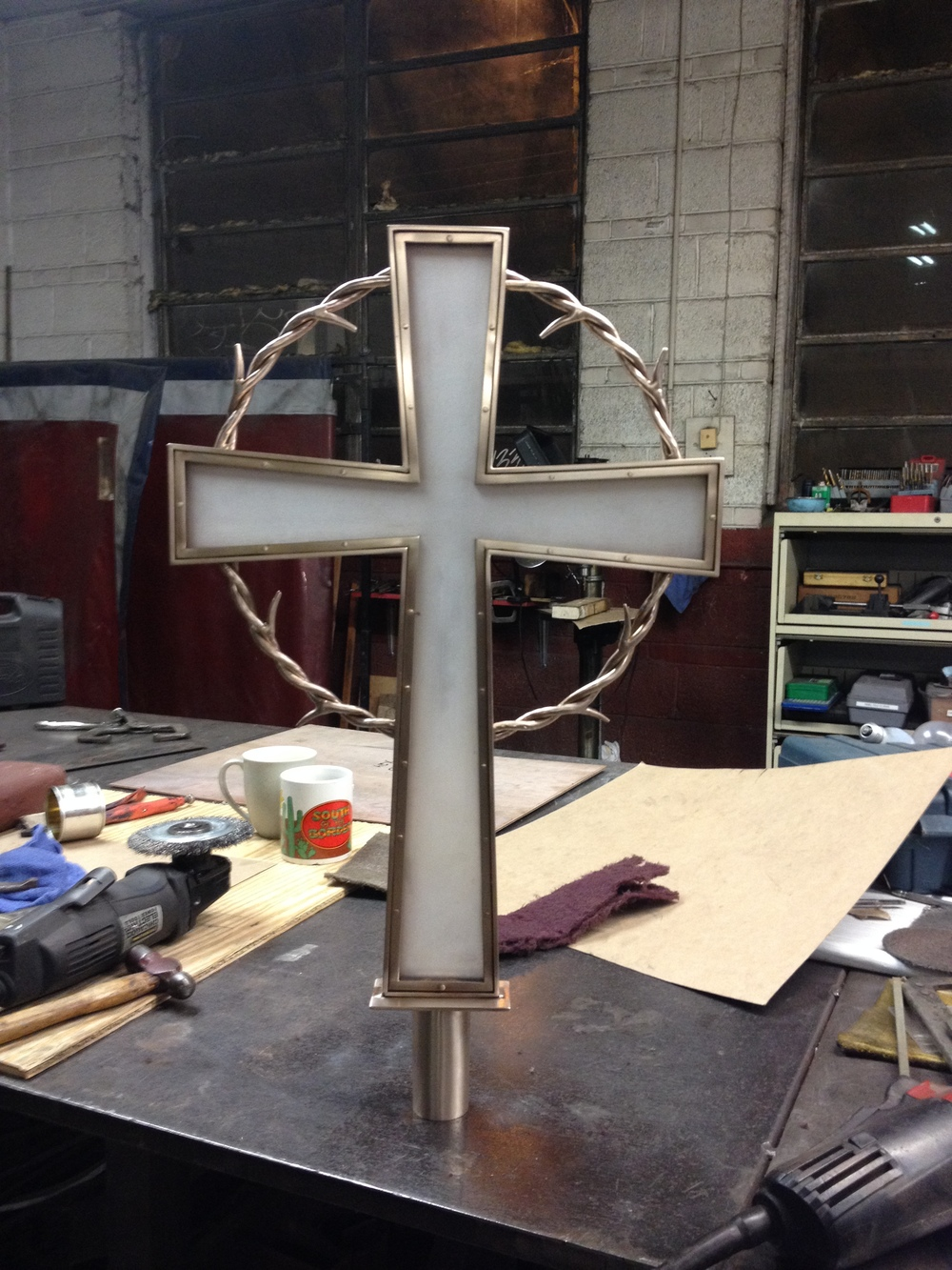 Processional cross with plexi insert PH2015