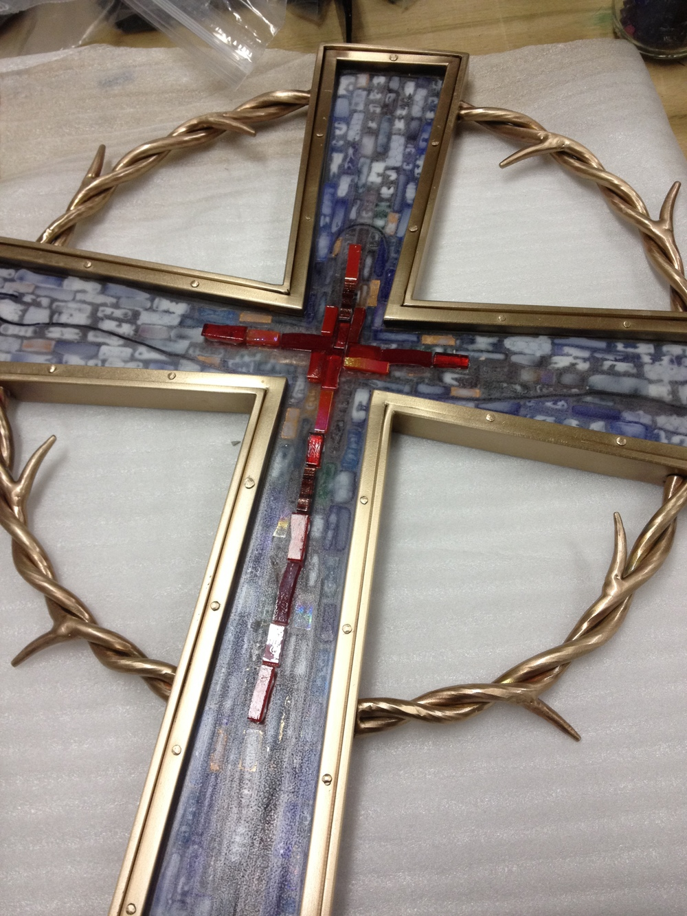 Mosaic cross in process 4 PH2015.JPG