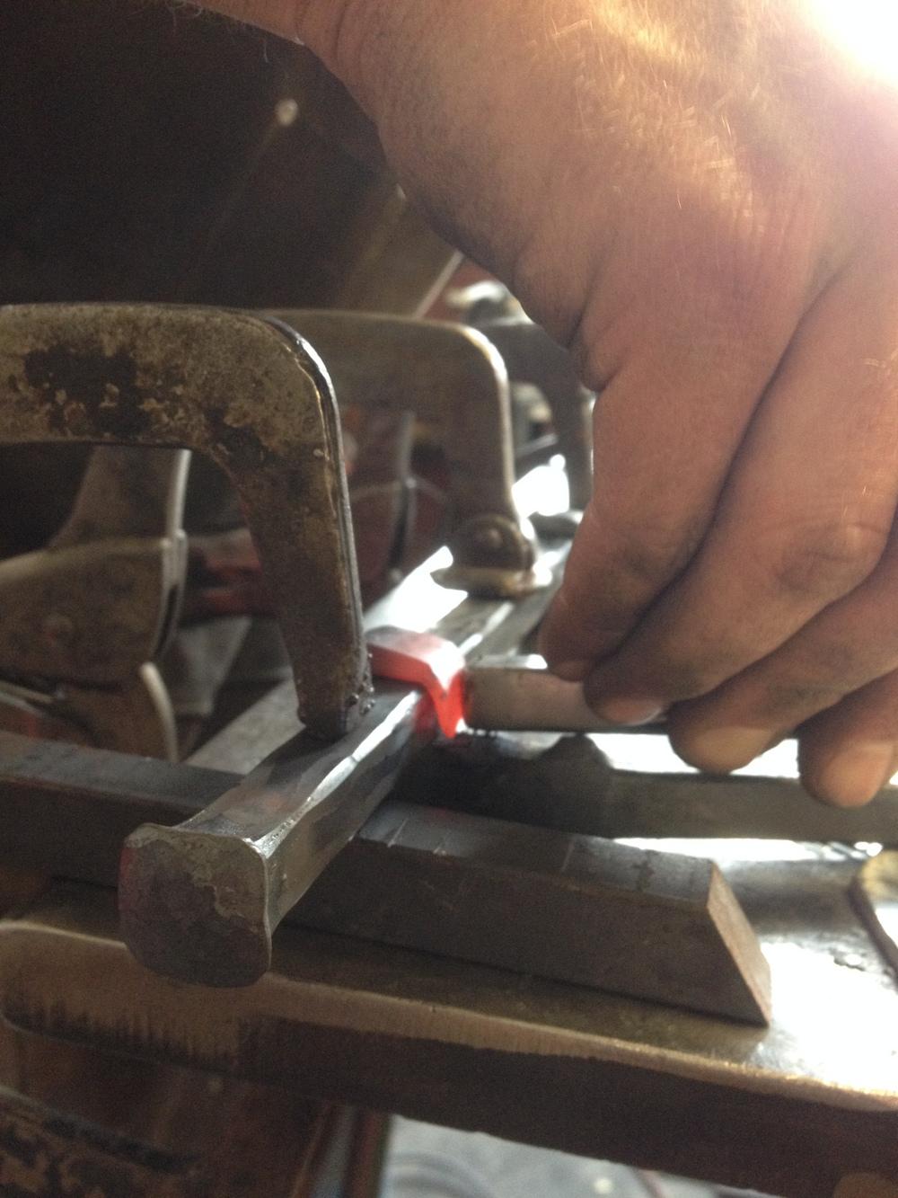 Forging fireplace tools