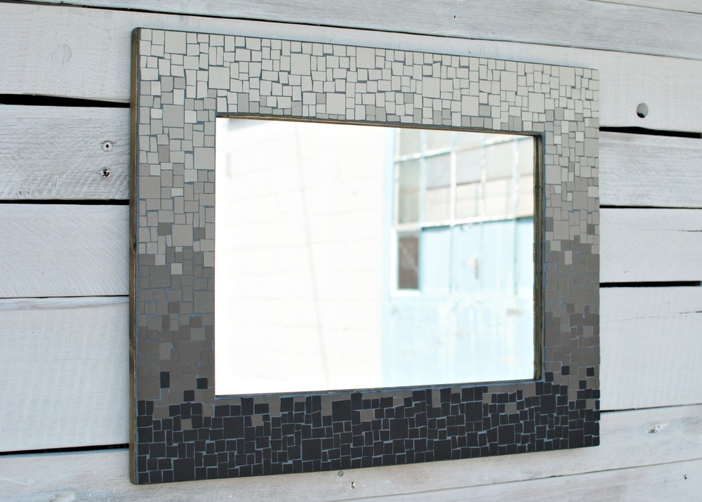 Custom wedding gift mosaic mirror
