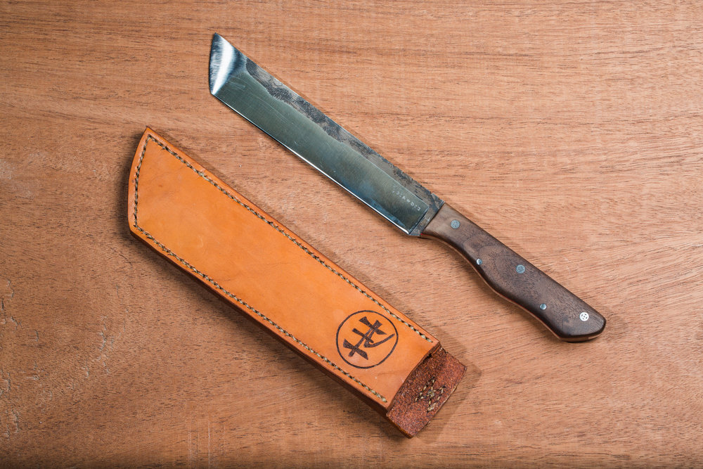 Hand forged damascus knife by Phoenix Handcraft & Join or Die Knives
