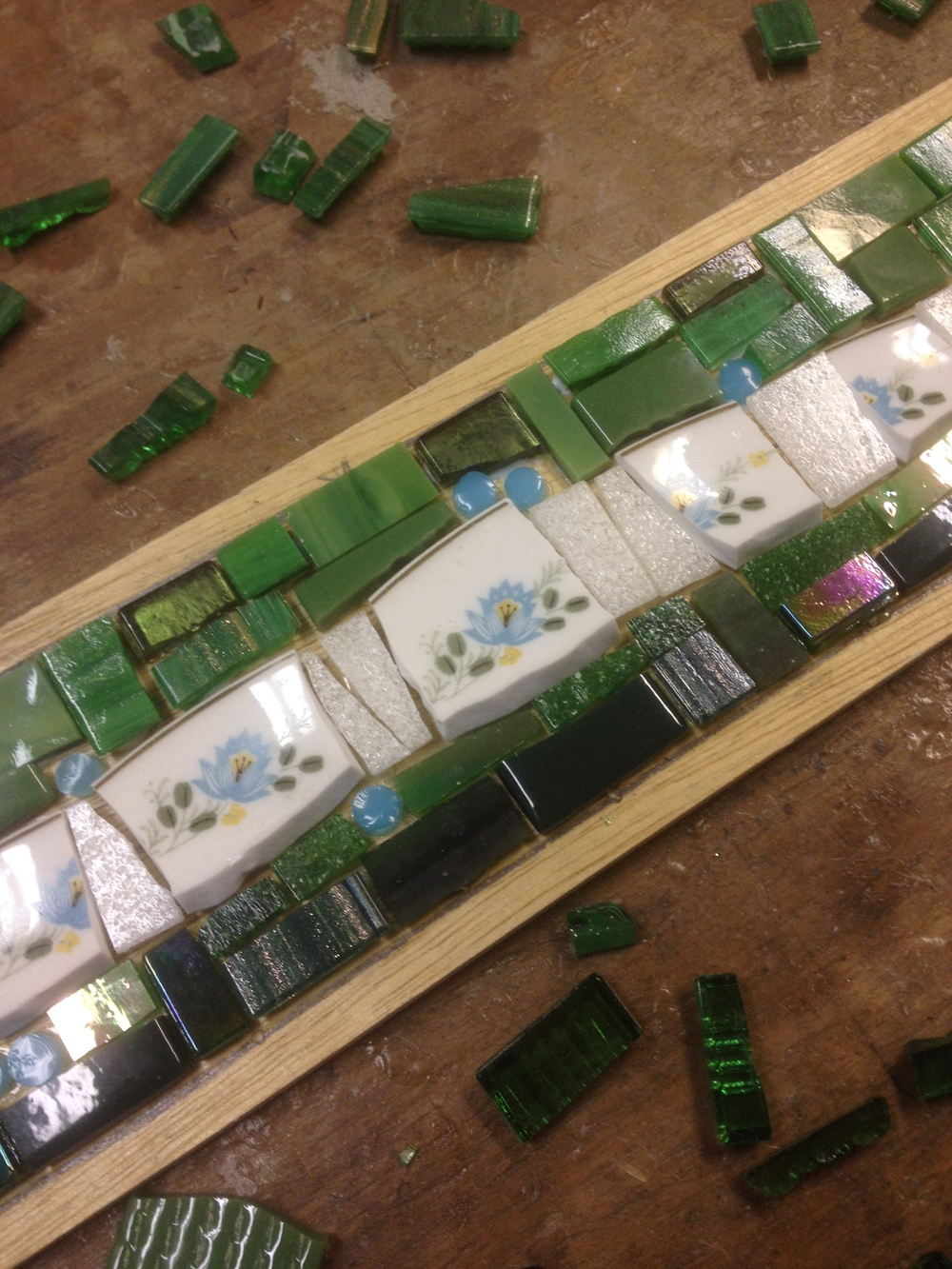 Making a mosaic coat rack