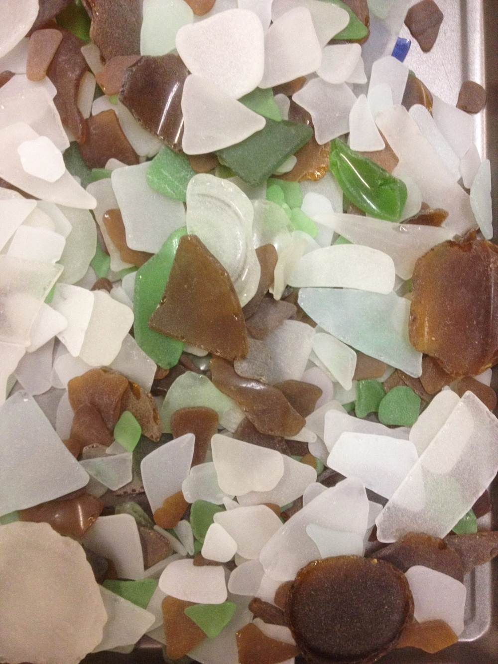 Seaglass material for a custom mosaic