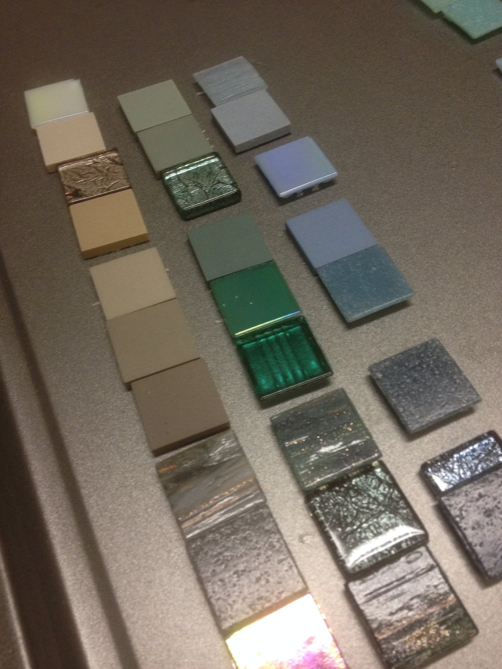 Mosaic tile selection for a custom mosaic