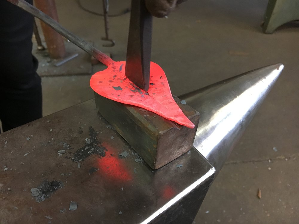 Forging leaves