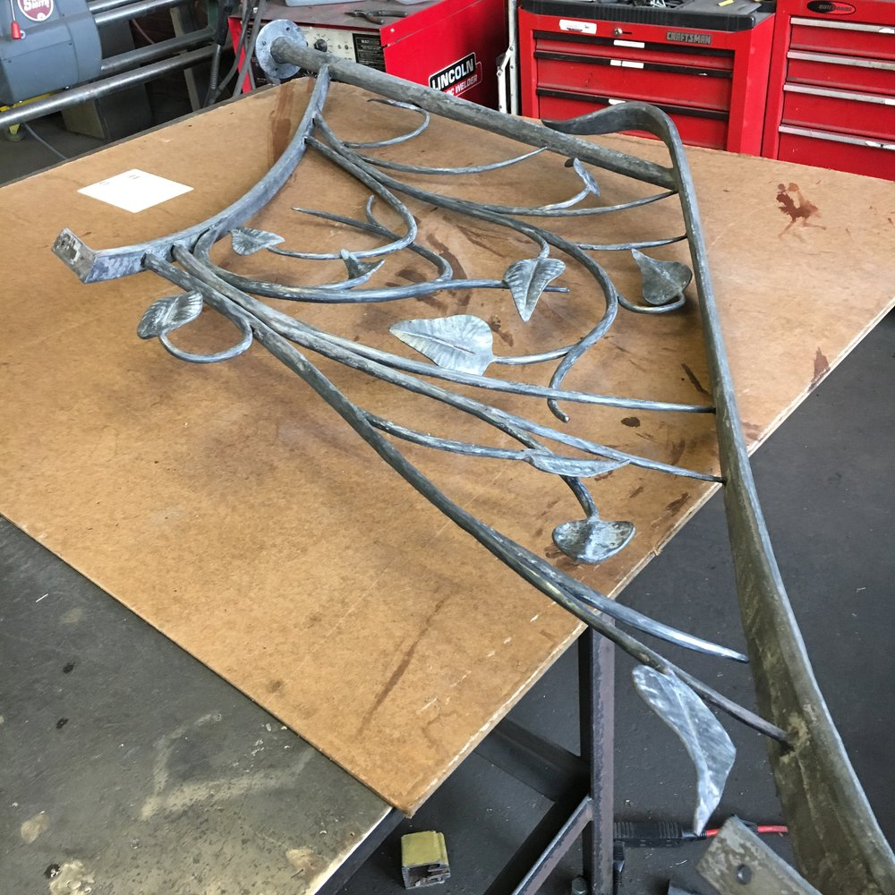 Leaf railing almost ready for installation