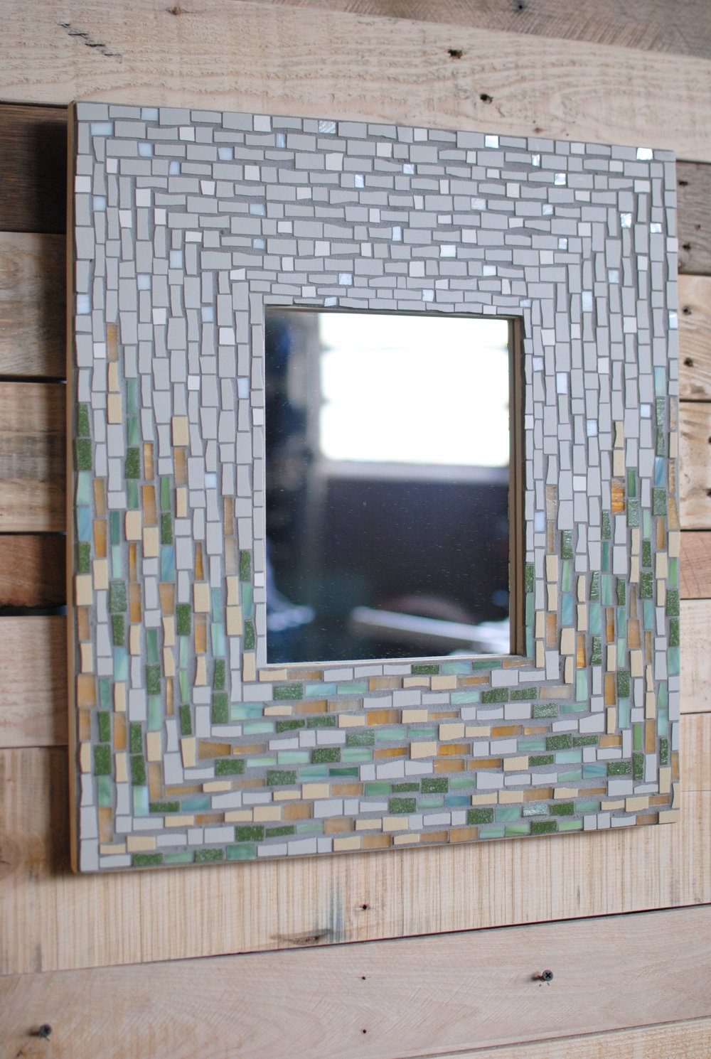 """April Showers"" mosaic mirror"