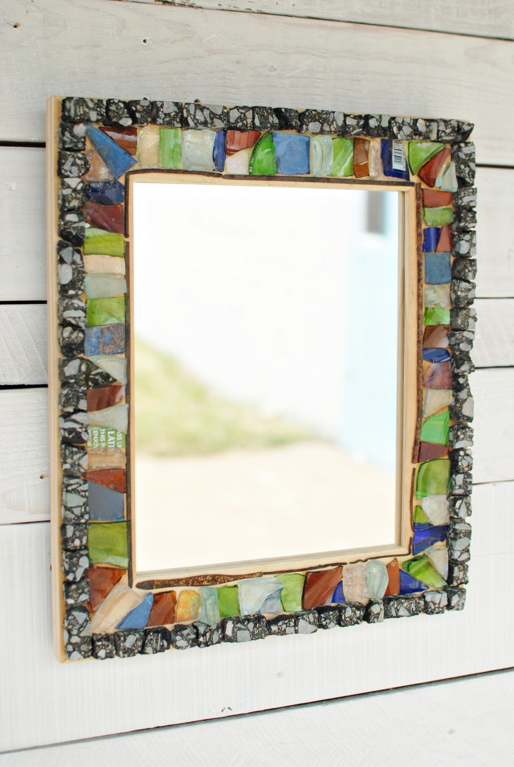 """Roadside"" mosaic mirror"