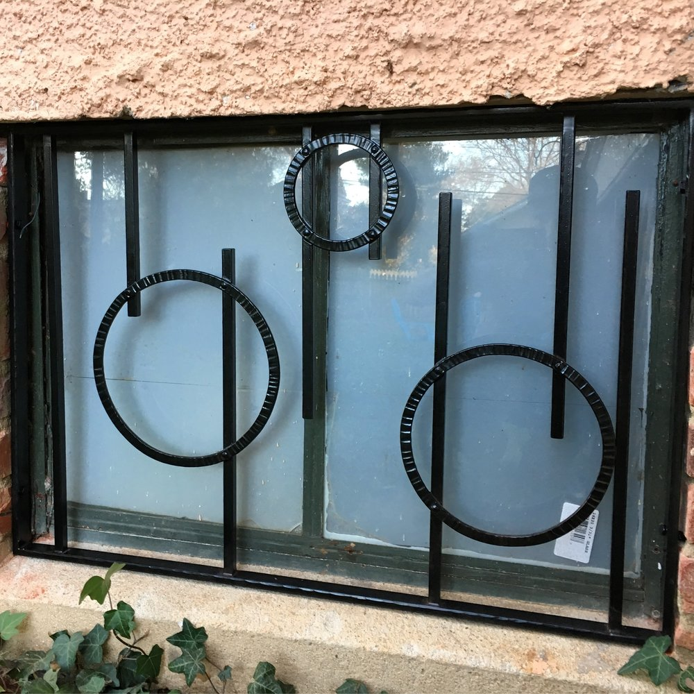 Custom decorative window grill