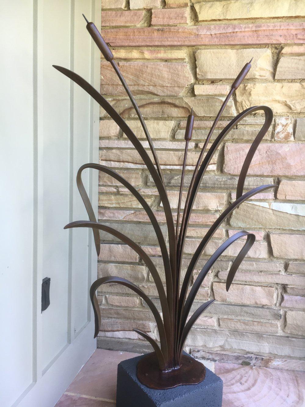Cat tail sculpture commission