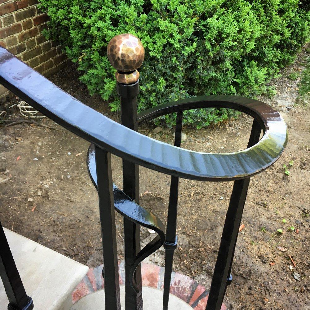 Stair rail finial detail