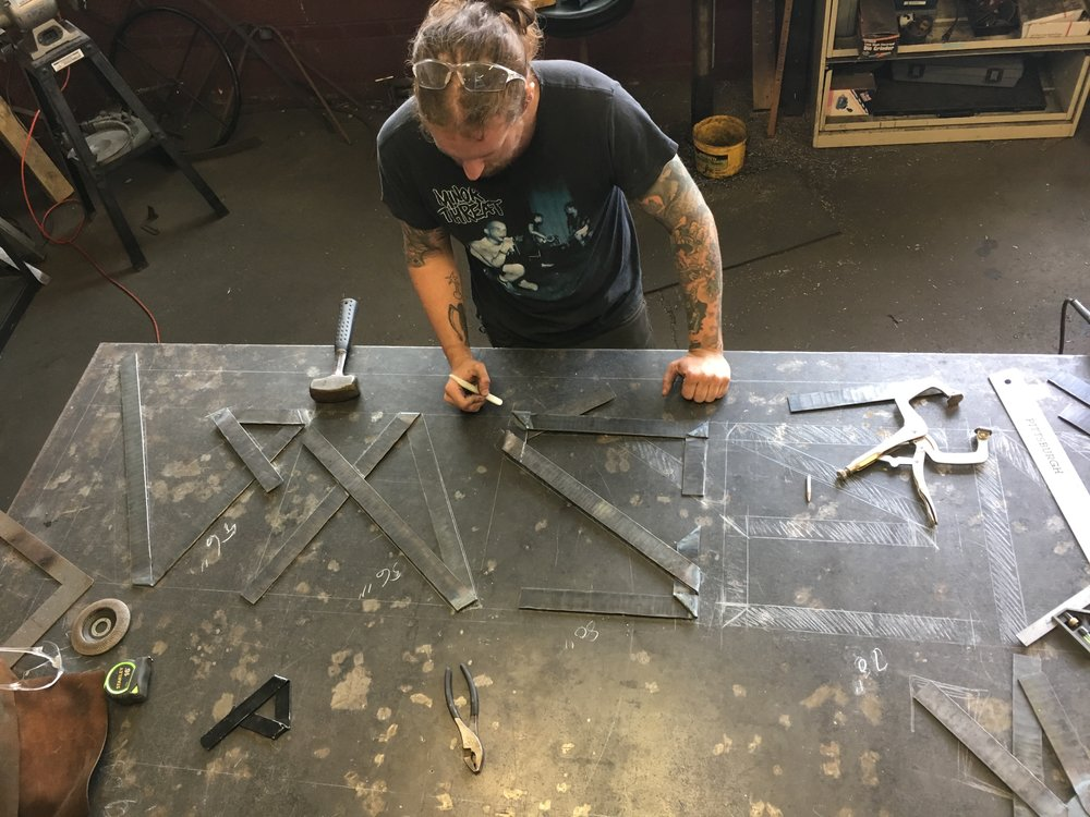 Forging letters for the sign
