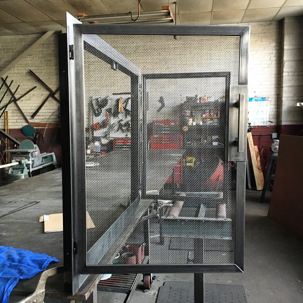 Modern firescreen in process