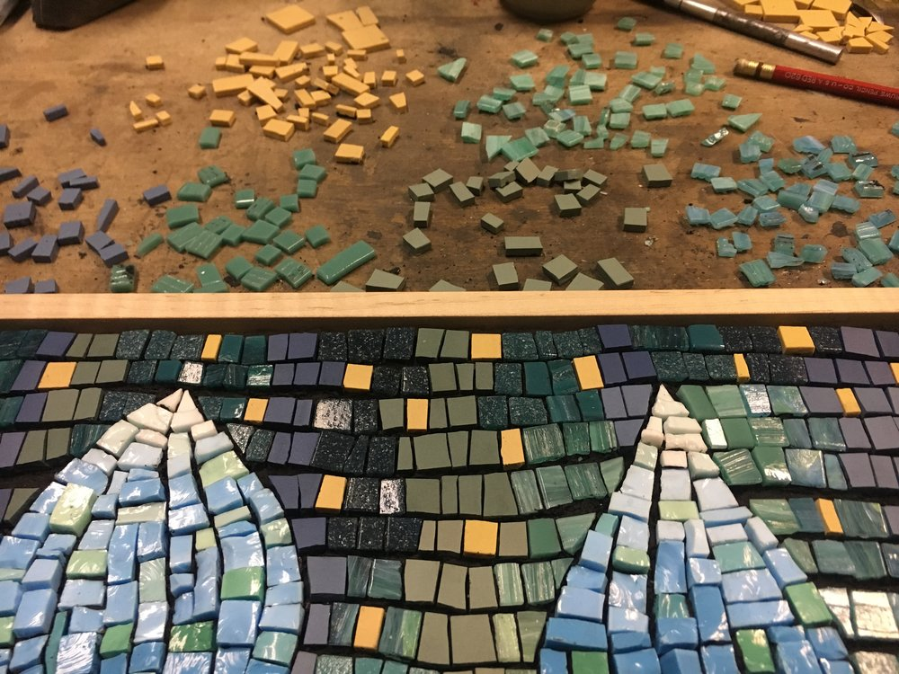 Magic Carpet mosaic process