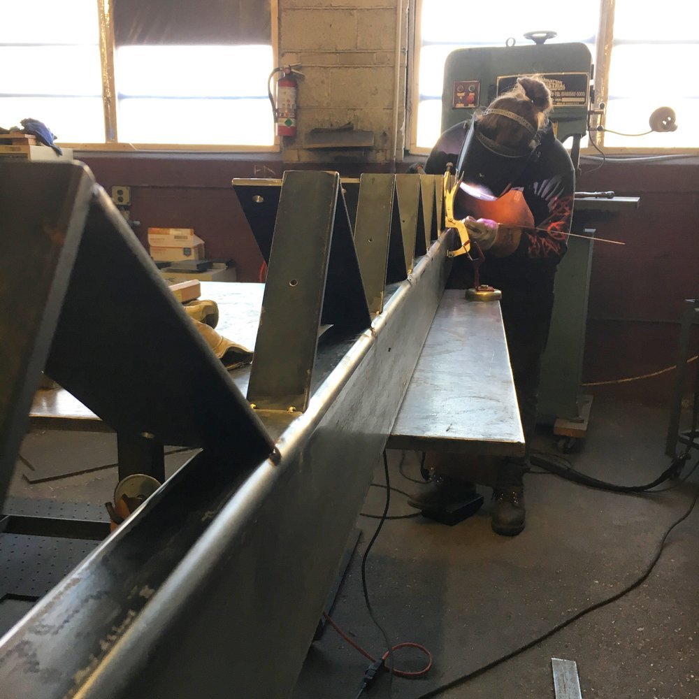 Welding stair stringers