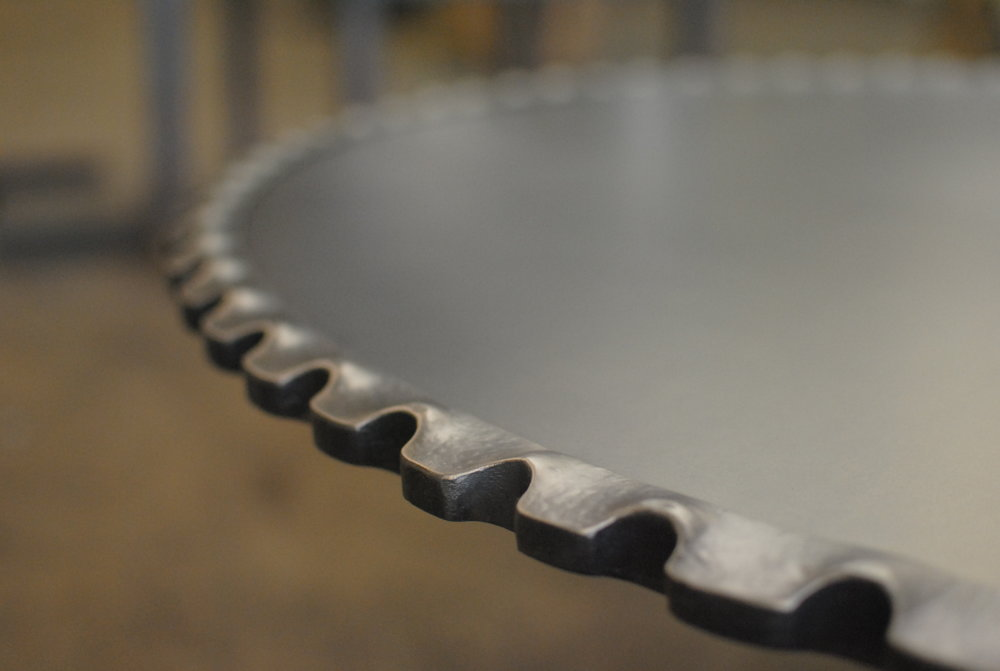 Forged gear table detail