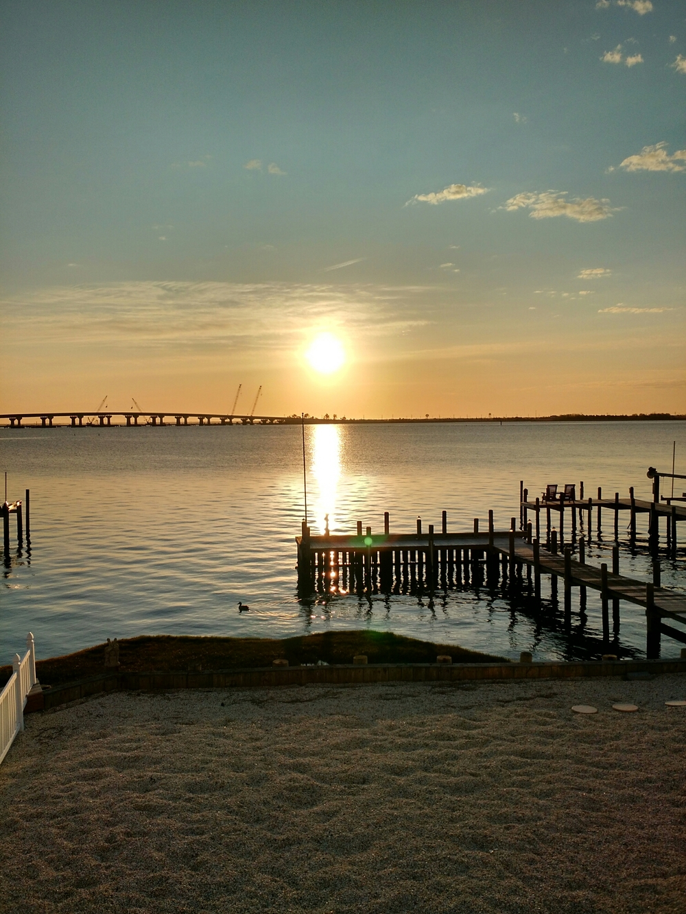 May sunrise over LBI and the Bay