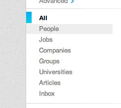 Filter menu: Select People