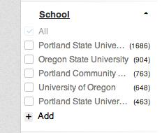 LinkedIn School filter