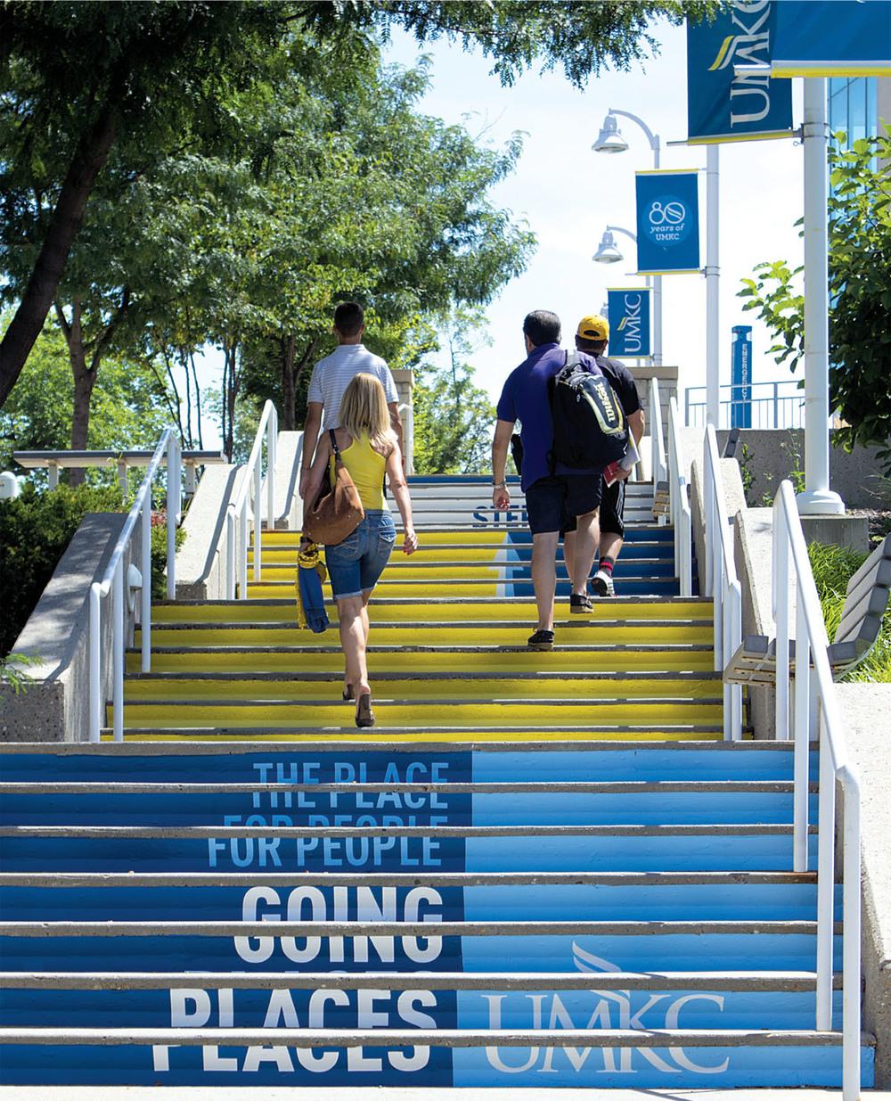 UMKC University Way stairs
