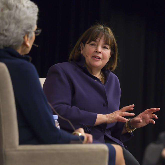 Ina Garten spoke at the University of Missouri-Kansas City. Photo by Janet Rogers, Division of Strategic Marketing and Communications