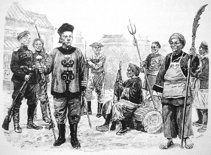 Chinese military drum major from around 1899.
