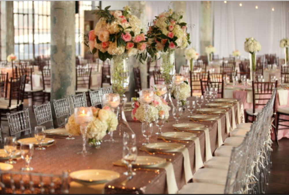 Fete By Design - The Lofts at Union Square Wedding - Blush and Gold Estate Table