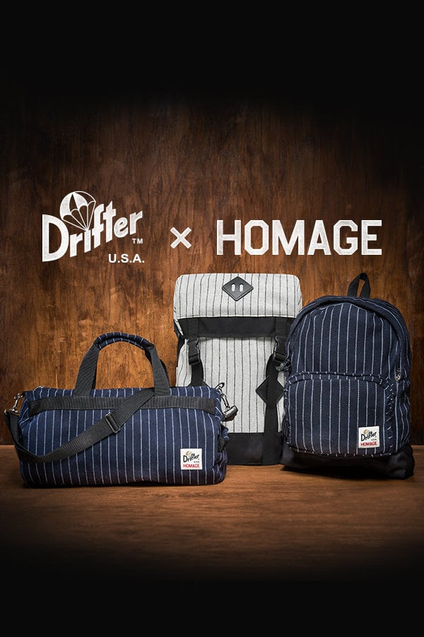 Drifter + HOMAGE Backpack