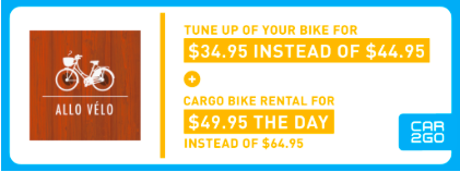 Show your member card and take advantage of these offers.  - Read about our repair services  here   - Read about cargo bike rentals  here