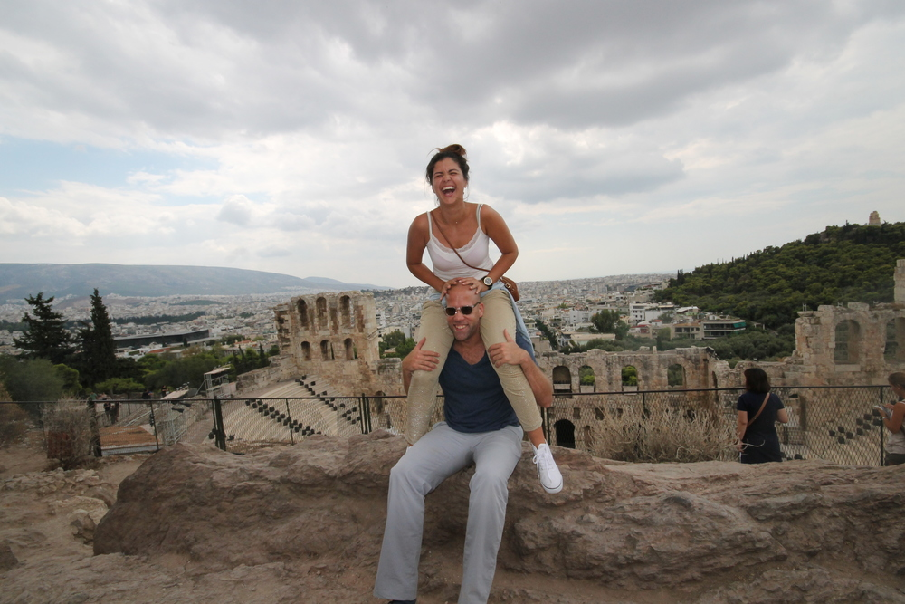fun from the top of the acropolis