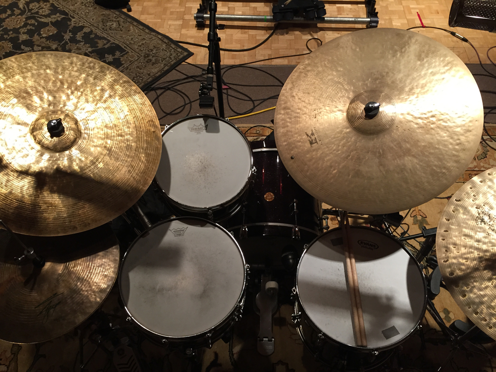 set up for the new amp trio record recorded in Jan 2015