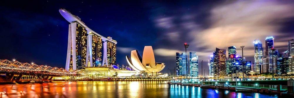 singapore night cityscape