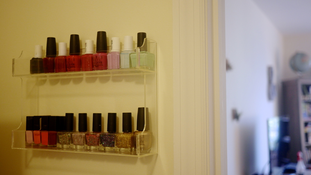 nail polish spice rack